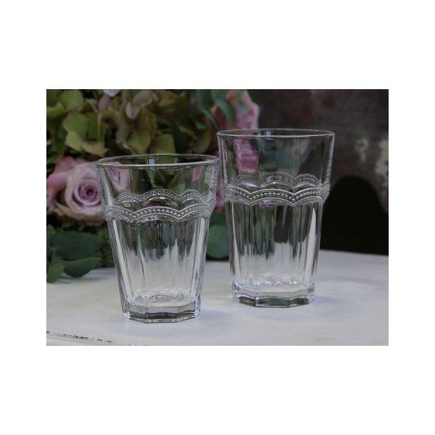 Antoinette drikkeglas med perlekant