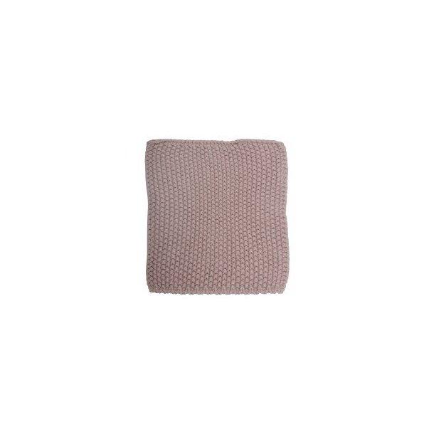 Grydelapper, strikket i farven Malva (Gammel rosa) fra Ib Laursen