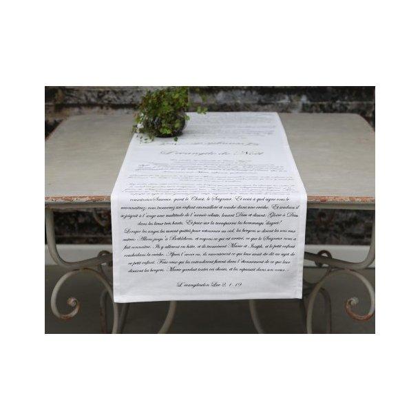 Bordløber med print L'evangile de Noel fra Chic Antique