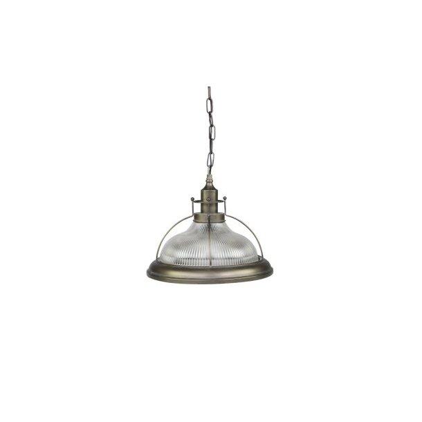 Factory Lampe m. rillet glas