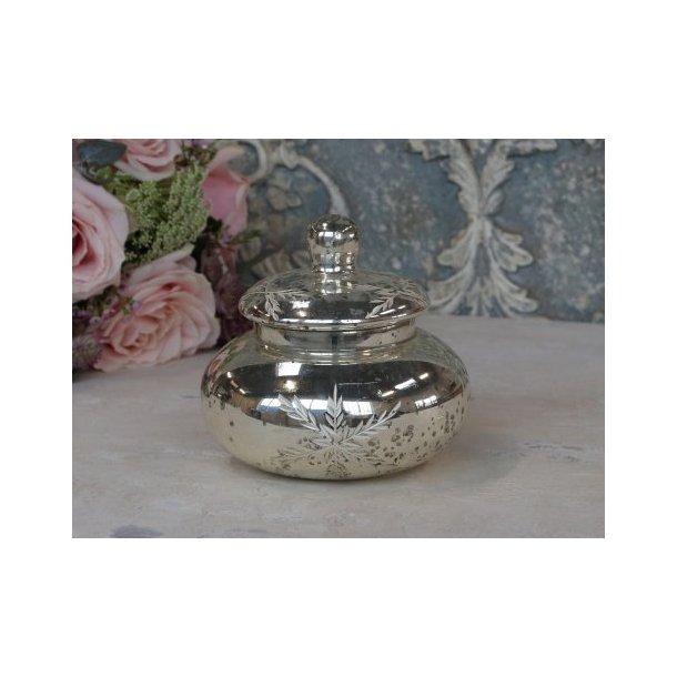 Box med slibninger i antique sølv