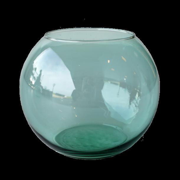 Kugleformet glasvase