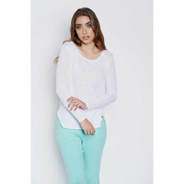 Cotton candy bluse -Ava white