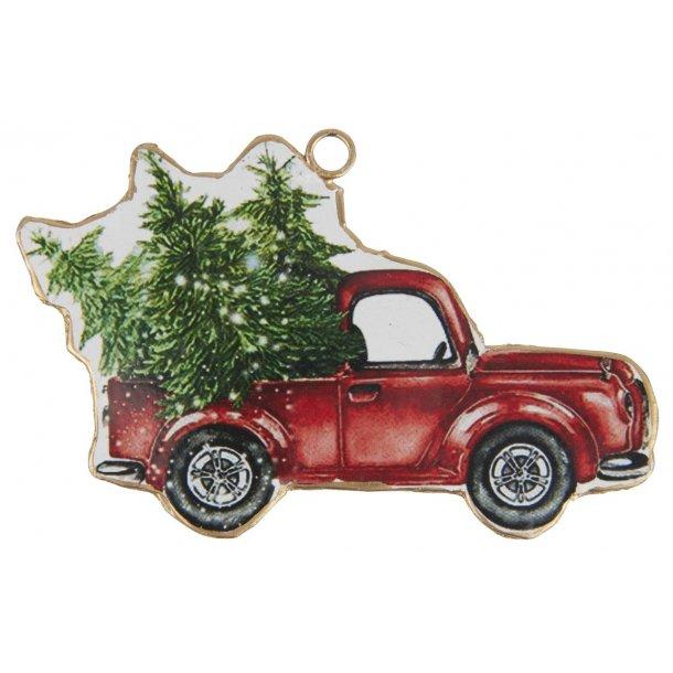 Bil t/ophæng med juletræ