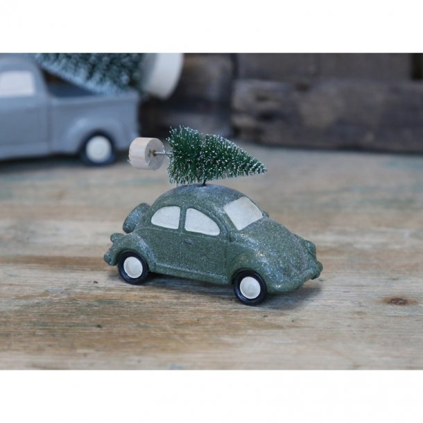 Bil m. juletræ
