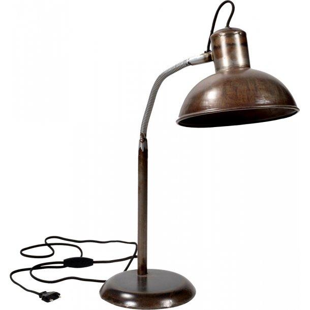 Bordlampe med unik finish