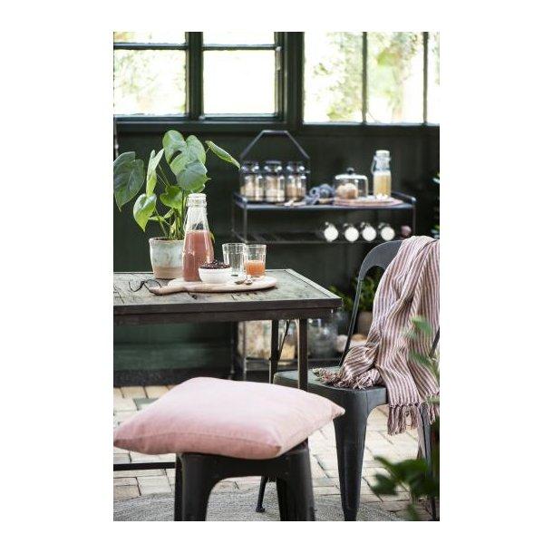 Cafebord i unika træ med metalstel