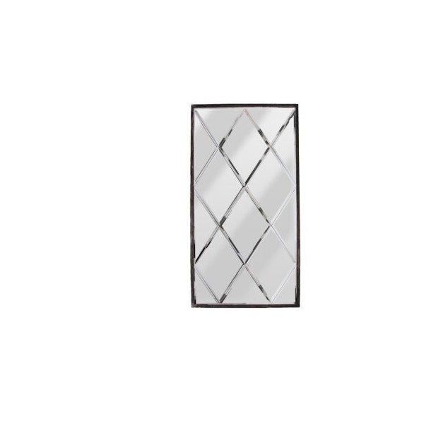 Harlekin spejl med metalramme (stort)